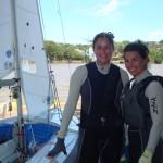 Fernanda Oliveira e Ana Barbachan representam o Clube dos Jangadeiros.