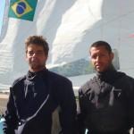 Fábio Pillar e Mathias Melecchi, velejadores do Jangadeiros. Crédito Ivan Netto (1)