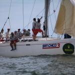 San Chico 3, de Francisco Freitas, do Clube dos Jangadeiros em regata do Circuito Atlántico Sur Rolex Cup 2014. Crédito Claudio Cambraia (3)