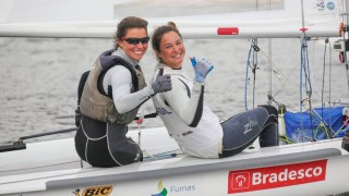Fernanda Oliveira e Ana Barbachan. Foto - Fred Hoffmann - CBVela