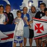 Na foto, Gabriel Kern ao centro, com Guilherme Plentz à esquerda.
