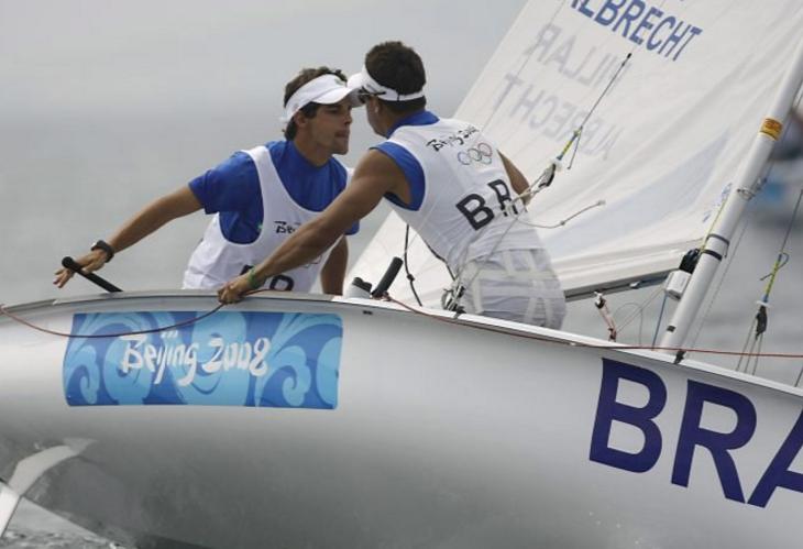 Fábio Pillar e Samuel Albrecht nas Olimpíadas de Pequim, 2008