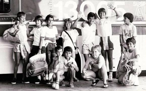 Flotilha da Jangada rumo ao Brasileiro de Optimist (1985)