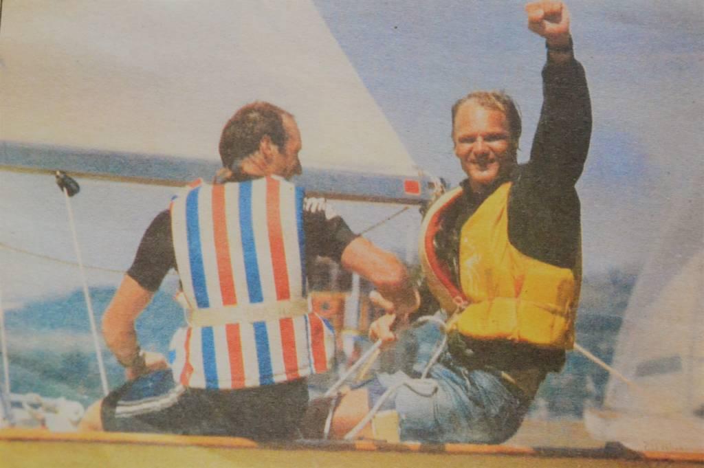 Nando Krahe e George Nehm vice-campeões mundiais de Snipe (1993)
