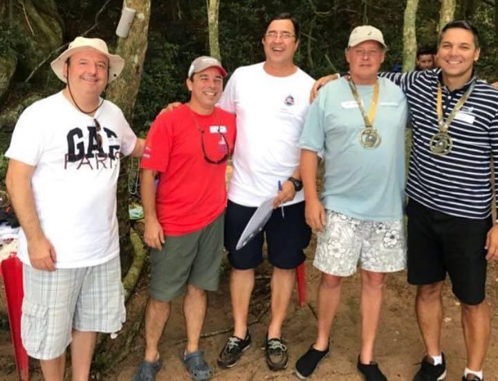 Um dos muitos encontros dos Cruzeiristas em 2017 Andre Serafini, Claudio Pena, Henrique Freitas, Ivan Sperb e Cristian Yanzer (Credito Paulo Angonese)
